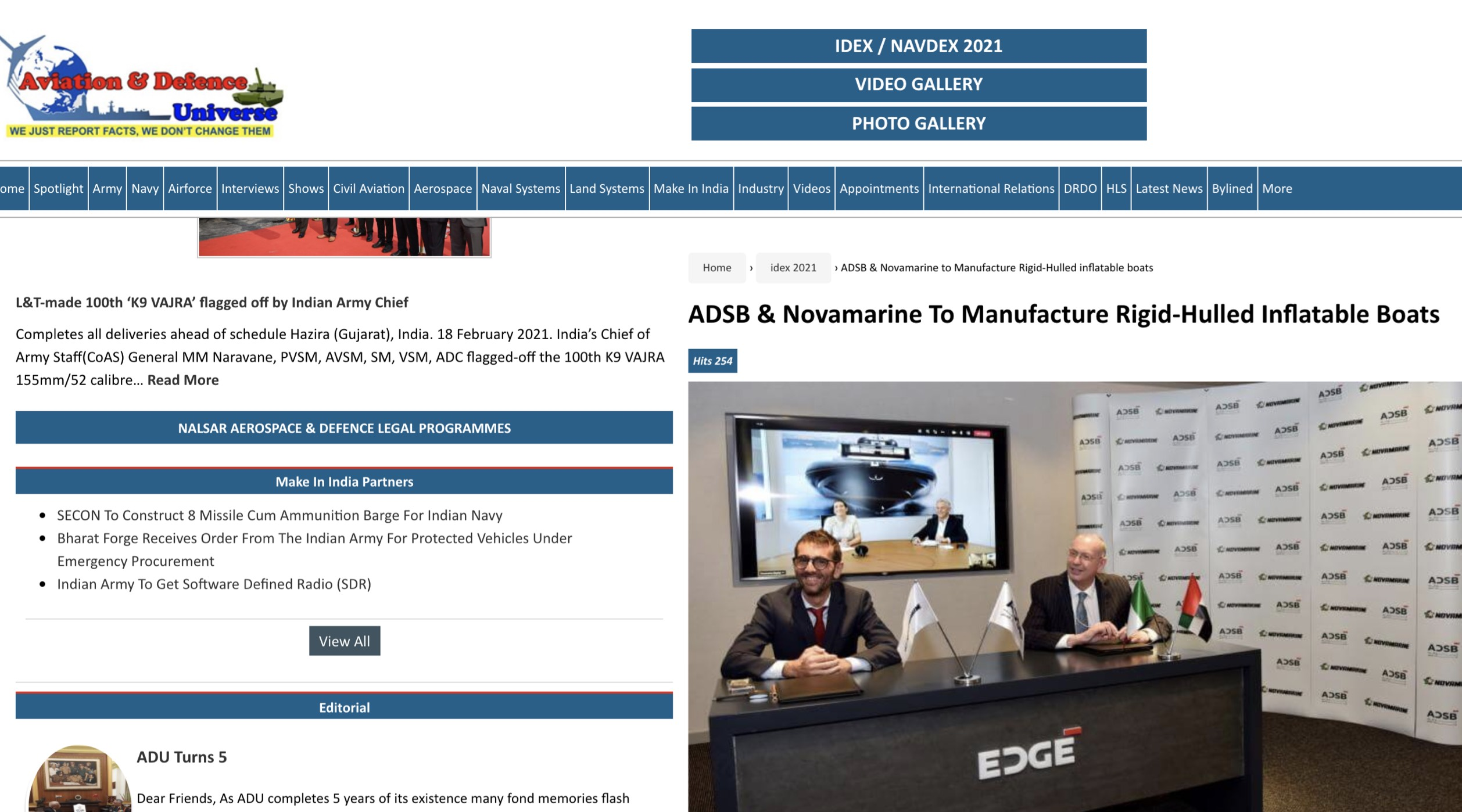 Aviation Defence Universe - ADSB & Novamarine to Manufacture Rigid-Hulled inflatable boats _ ADUsd